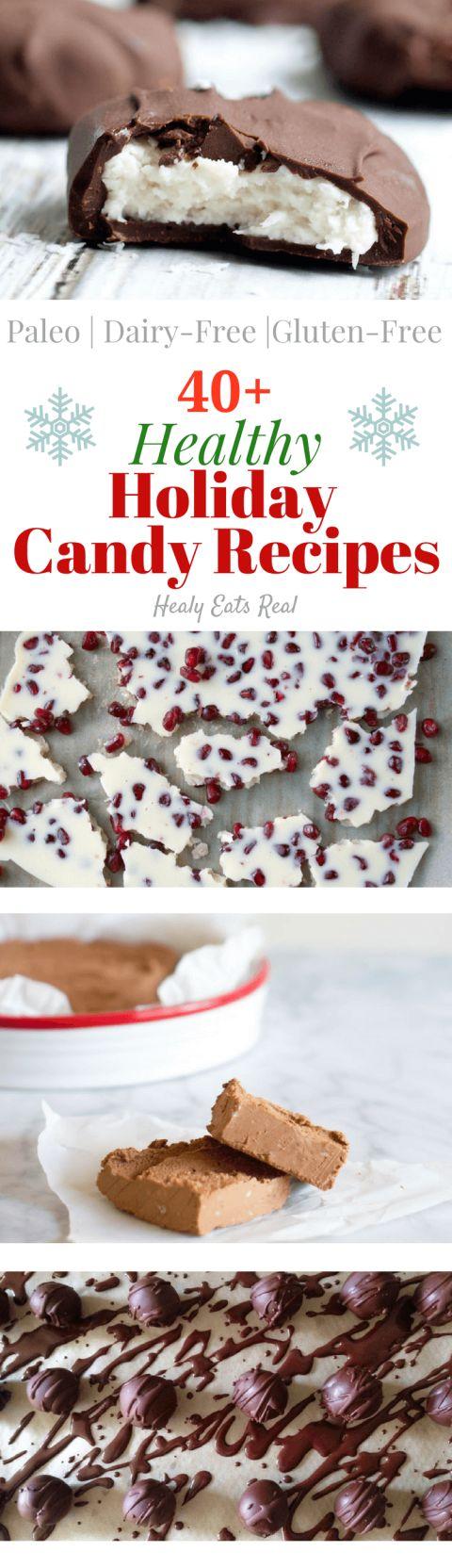 Healthy Holiday Candy Recipes (Paleo, Dairy Free)