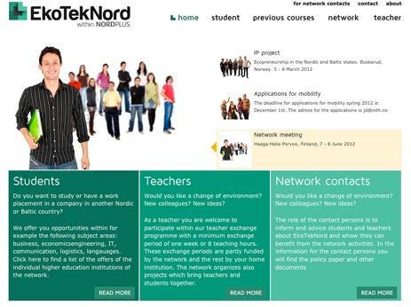 Studentarbeider fra interaktivt design.