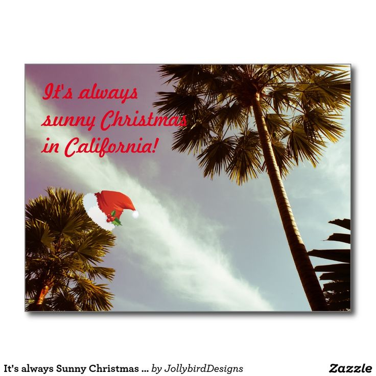 It's always #Sunny #Christmas #Postcard