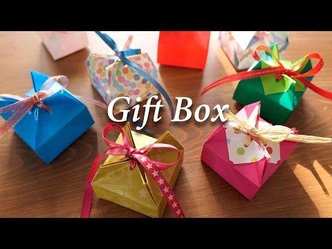 折り紙1枚のギフトボックス★EasyGiftbox 【Origami Tutorial】(#72) - YouTube