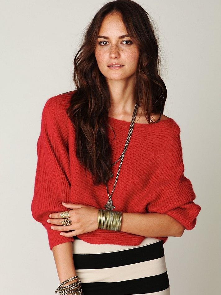 color + baggy shirt + stripe skirt + cuff + hair... love!