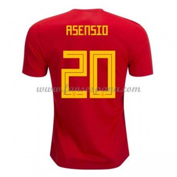 Camisetas De Futbol Selección España Copa Mundial 2018 Marco Asensio 20 Primera  Equipación 181abce3ee001