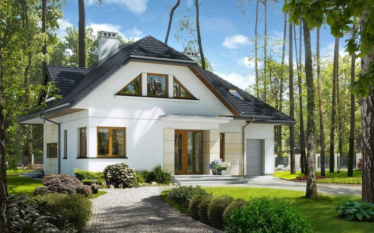 Stylowy 1 - wizualizacja 1 - Projekty stylowych domów z antresolą