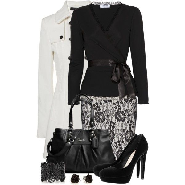 Work OutfitFashion, Style, Dressy Outfit, Clothing, Black And White, Black White, White Outfit, Offices Outfit, Work Outfit