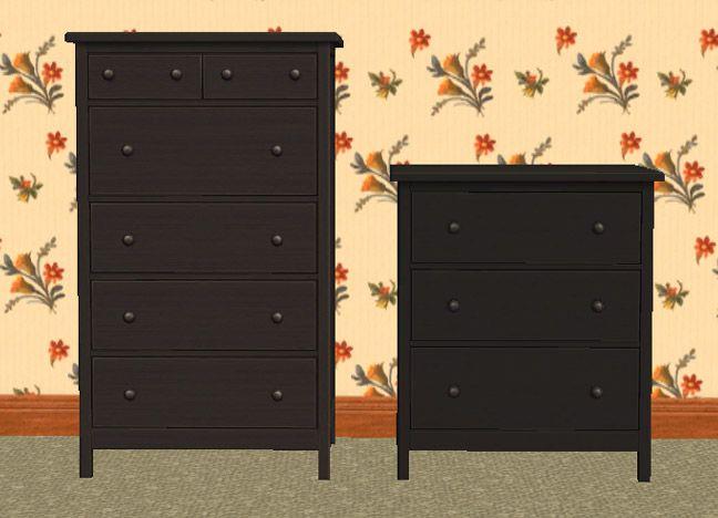 Small Black Dresser