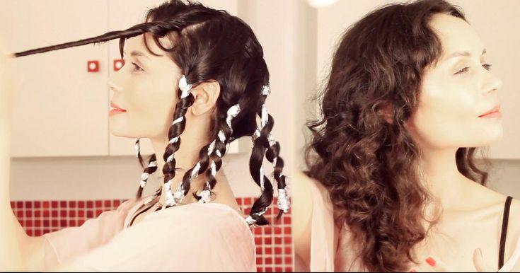 Cómo hacer rizos en el cabello con papel aluminio paso a paso