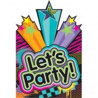 80's Party Invitations (8pk) $7.95 A491223