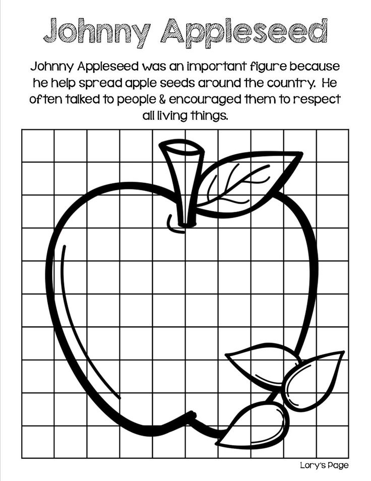 NATIONAL JOHNNY APPLESEED DAY COLORING PAGE -- September ...