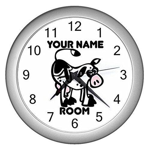 White Personalized Cartoon Animal Cow Wall Clock CustomMade http://www.amazon.com/dp/B0114LI9JW/ref=cm_sw_r_pi_dp_HY7Mvb0S0R5QE