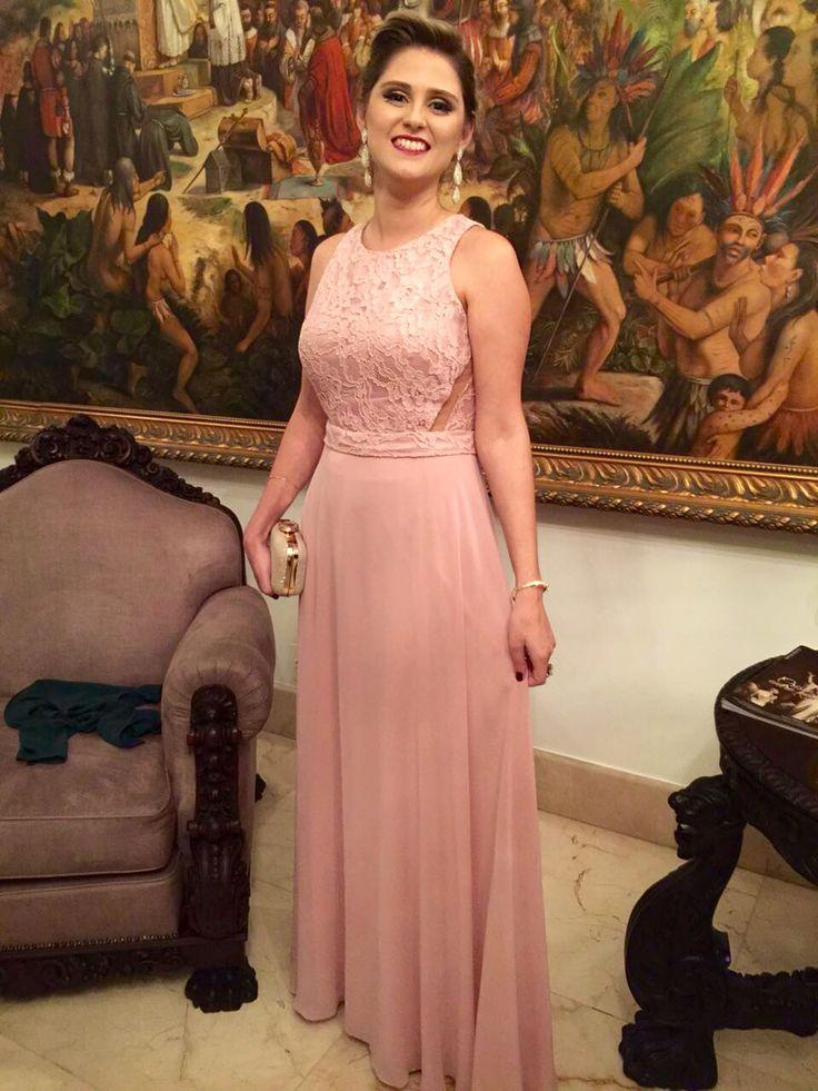 Vestido divo rosa chá. Amazing dress light pink. Madrinha de casamento.