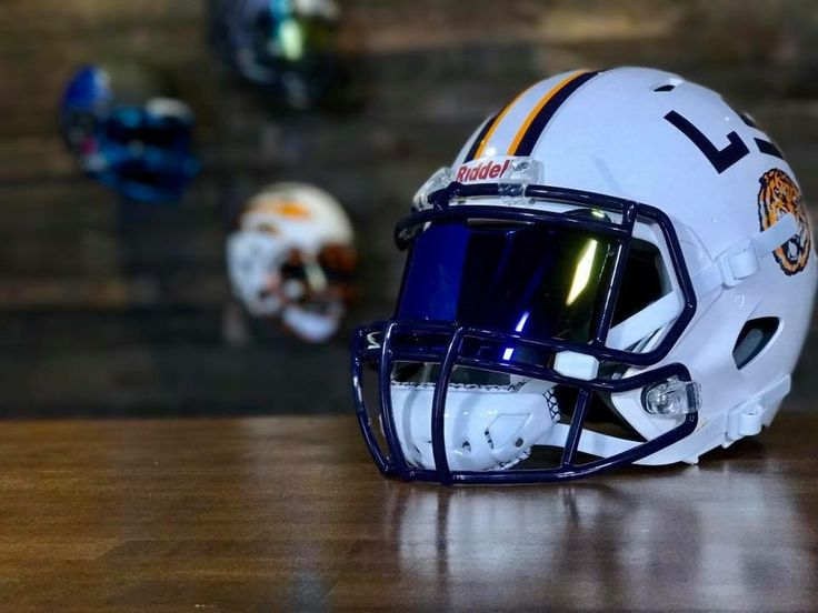 Football Visors For Helmets : Shoc football visor in an lsu pro combat edition helmet