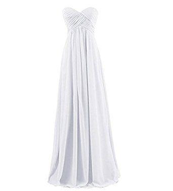Amazon | Yesfashion ロングワンピース シフォン ウェディングドレス レディース ブライズメイド きれいめ 結婚式 お呼ばれ ドレス フォーマル 二次会ドレス パーティーワンピース | ドレス 通販