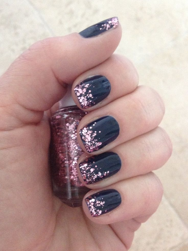 143 best black nail designs images on pinterest cute nails nail scissors and make up looks Nail polish design ideas at home