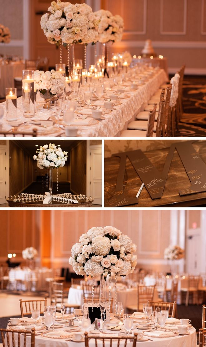 Elegant gold, champagne and black wedding by K and K Photography || see more at borrowedandbleu.com