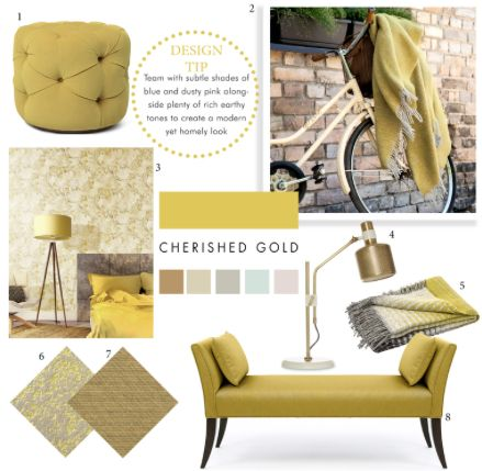 Dulux's Colour of the Year - Cherished Gold  Read all about the colour on our blog here http://www.inthewhiteroom.com/blog/2015/9/28/duluxs-colour-of-the-year-cherished-gold