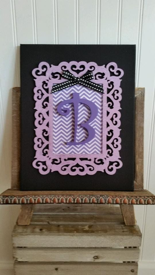3D Monogram Relief Canvas