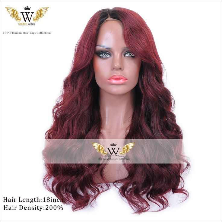 Find More Human Wigs Information about 5A 200Density Brazilian Virgin Hair Red Full Lace Wigs Human Hair Ombre…