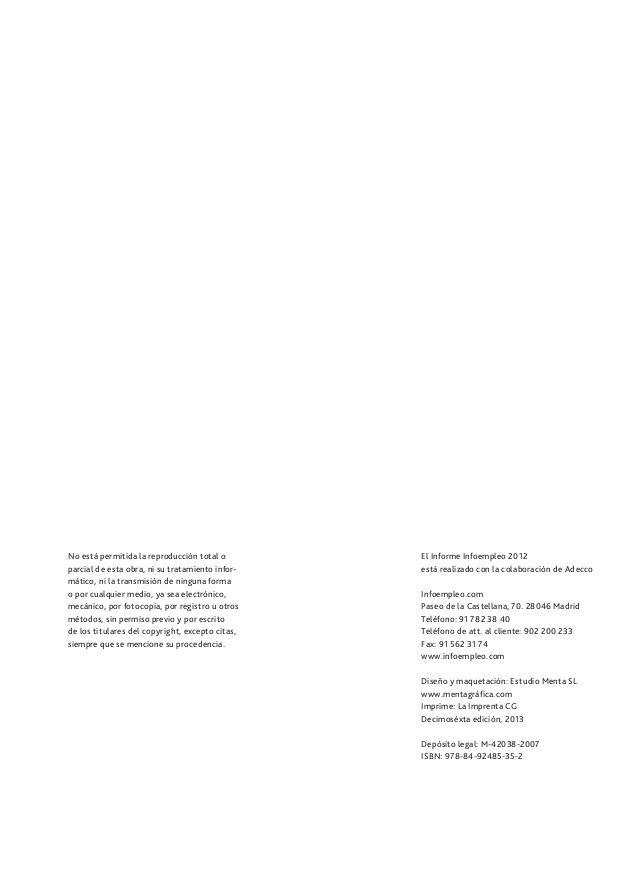 Informe infoempleo 2013. Oferta y demanda de empleo en España