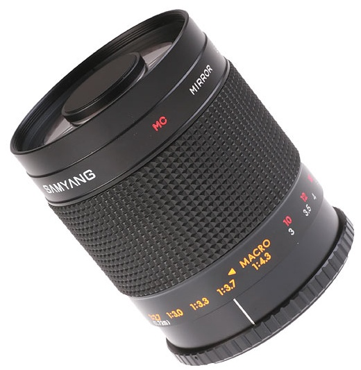 Samyang 500mm MC IF f/8 Mirror is an incredible reflex obejct lens constructed especially to extreme zoomings.