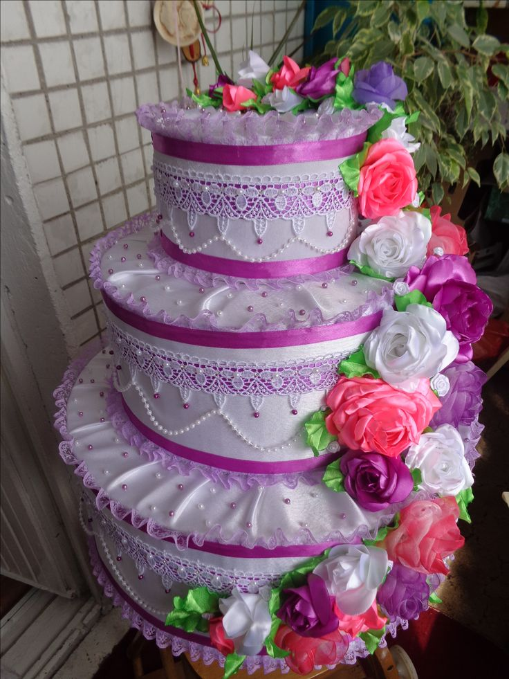 торт-коробка для денег на свадьбу