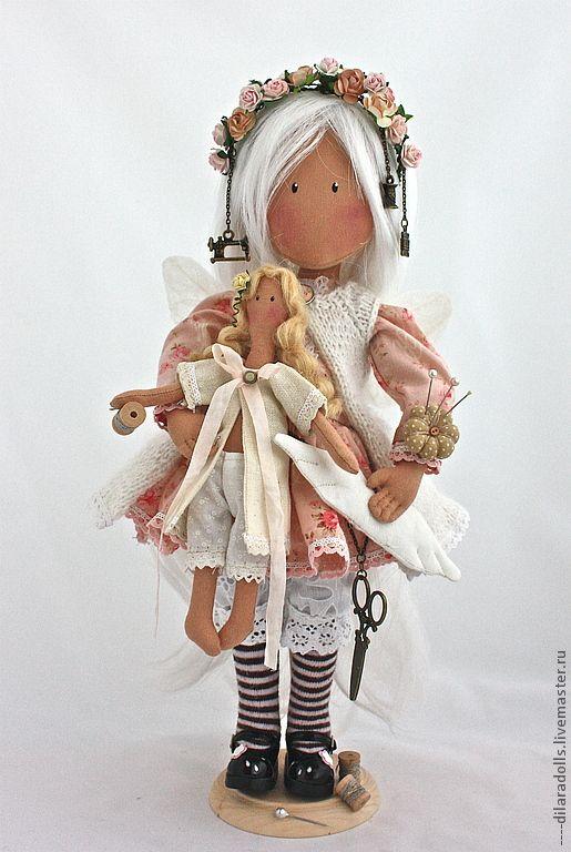"""Человечки ручной работы. Ярмарка Мастеров - ручная работа текстильная кукла `ВИОЛЕТ"""". Handmade."""