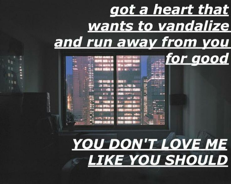 you don't love me like you should // hey violet