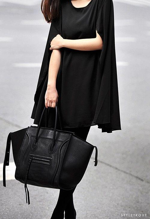 Layers of drapey black