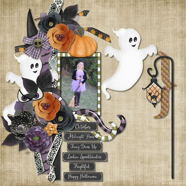 Trick or Treatin by LouCee Creations available at Pickleberrypop $1 per piece for a limited time or buy the 6 pack and get FREE matching journal cards https://www.pickleberrypop.com/shop/product.php?productid=40509&page=1  Week 40 FREE template by Jumpstart Designs (part of template set 49) https://www.facebook.com/JumpstartDesignsForArtisanorCreativeMemories?fref=ts