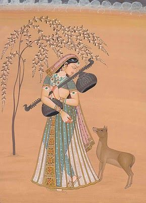 Radha-2 ~ a Mughal painting