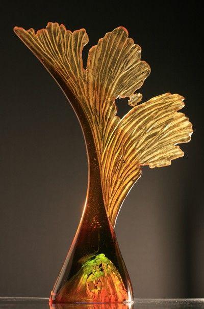 Sycamore Seed by Crispian Heath, art glass
