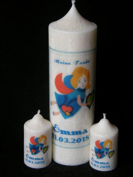 Taufkerzen - TAUFKERZE-SET ENGEL 1+2 - ein Designerstück von Candelita123 bei DaWanda