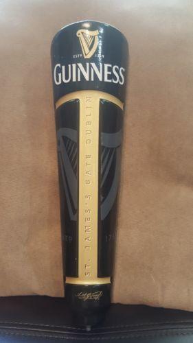 """Guinness St James Gate Dublin Harp signature 11.5"""" Beer Keg Tap Handle Marker"""