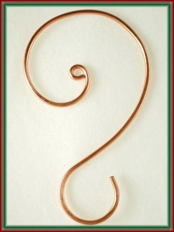 Copper Ornament Hooks, Christmas Tree Hooks, Hangers