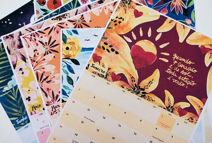 Calendário 2016 grátis para imprimir – E aí Beleza + Canson Colorido