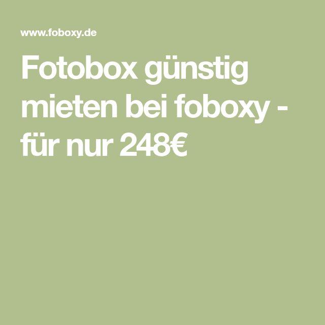 Fotobox günstig mieten bei foboxy - für nur 248€