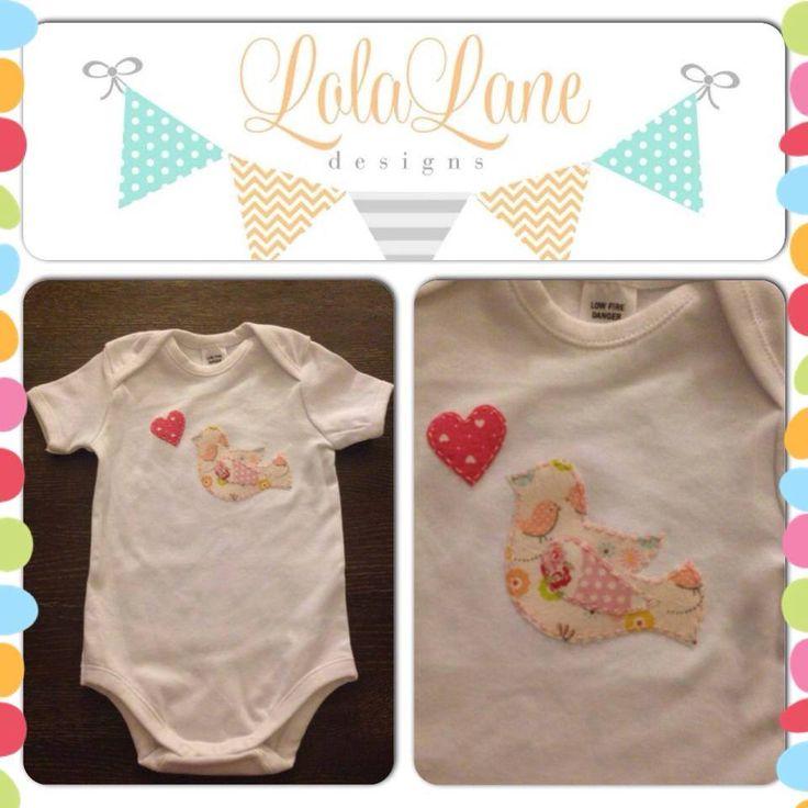 Handmade by Lola Lane Designs Sweet Tweet Onesie