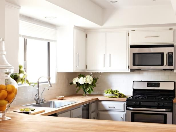 HGTV.com has inspirational pictures & ideas for cheap kitchen countertop options like laminate, solid surfaces, and sustainable bamboo and glass.