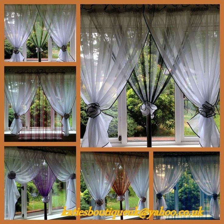 Beautiful White Voile Net Curtain with String Curtains