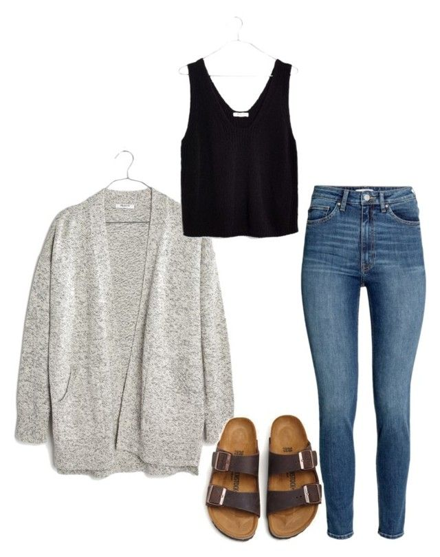 """Cool day"" by katiebug1031 on Polyvore featuring Madewell and Birkenstock"