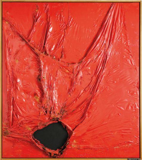 Alberto Burri, Rosso Plastica, 1964, Fondazione Burri, Città di Castello