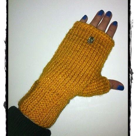 Mitones terminados  #knit #handmade #mittens #lana #wool #mitones #palillos