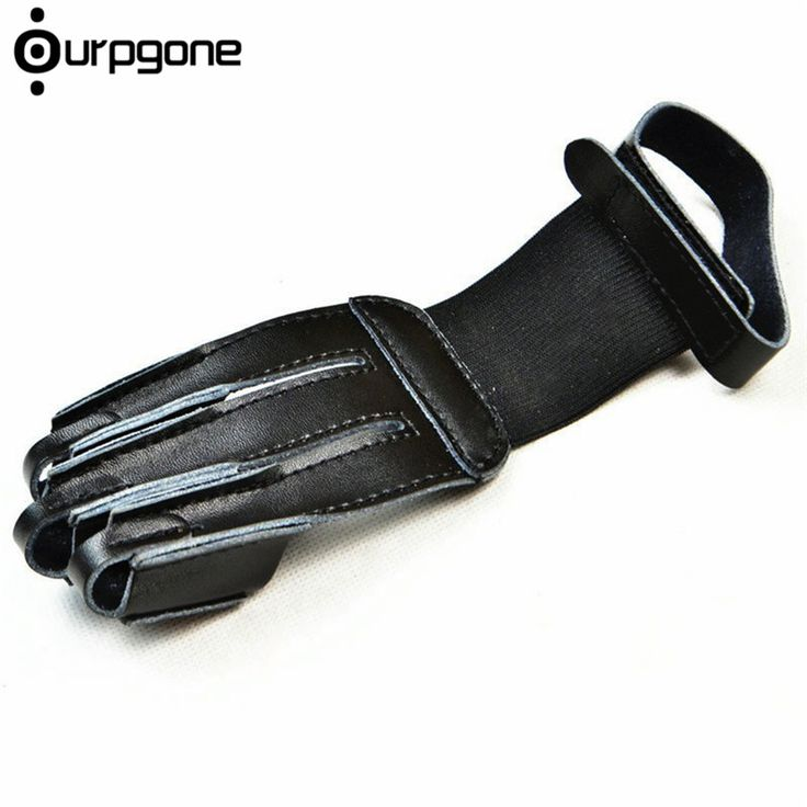 Ourpgone 3 Fingers Archery Protective Glove Pull Bow Arrow Leather for Shooting Practice