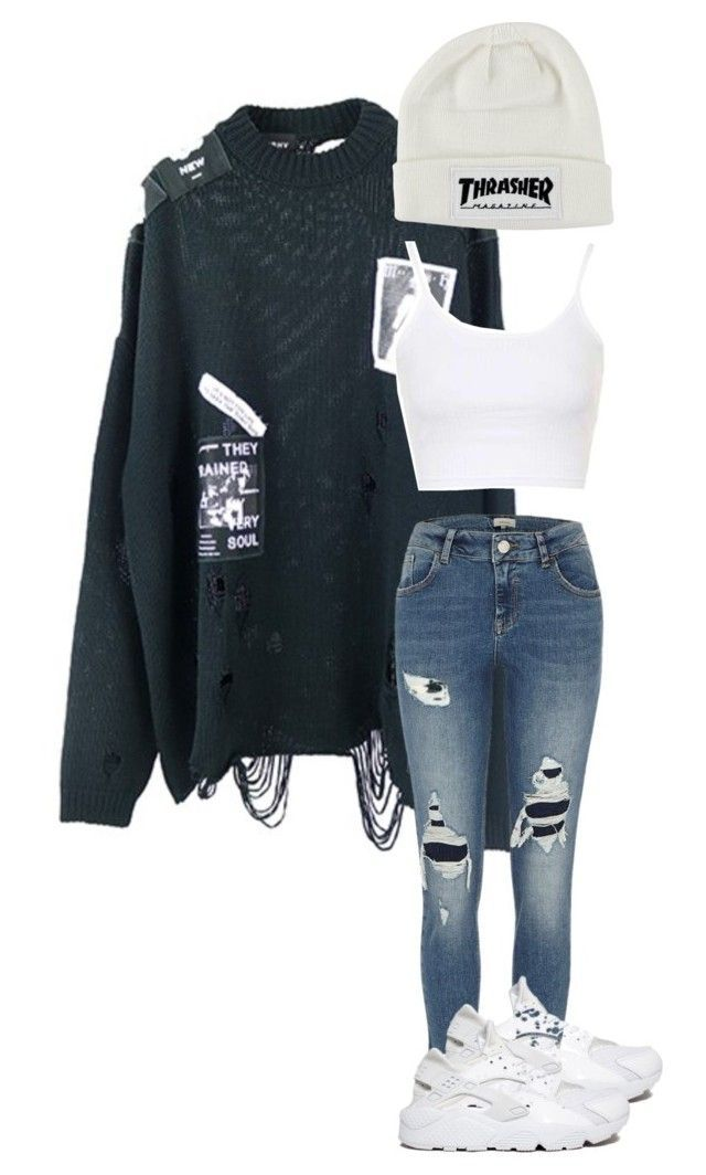 """""""mannequinxo x Alannah // Gigi Hadid"""" by xoflawlessmannequinxo ❤ liked on Polyvore featuring River Island and NIKE"""