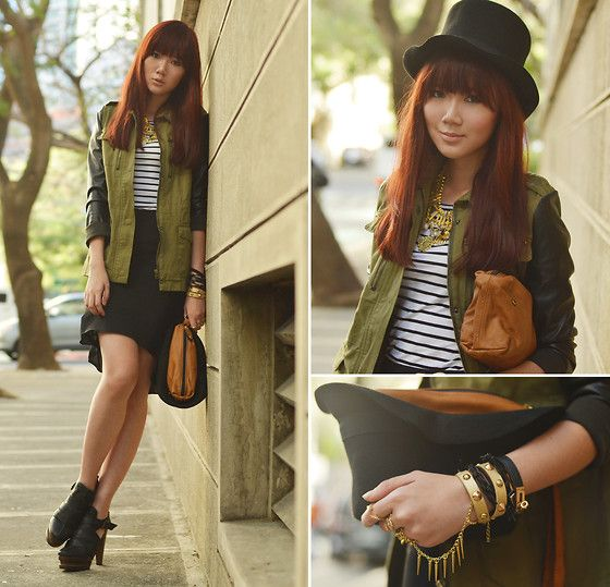 Les Envers Hat And Bag In One, Kikay Matters Necklace, Kikay Matters Leather Cuffs, The Lyra Shoppe Rings, She Inside Jacket