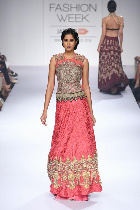 Click to see more Indian bridal lehenga, wedding outfit Jade 2014 #shaadibazaar