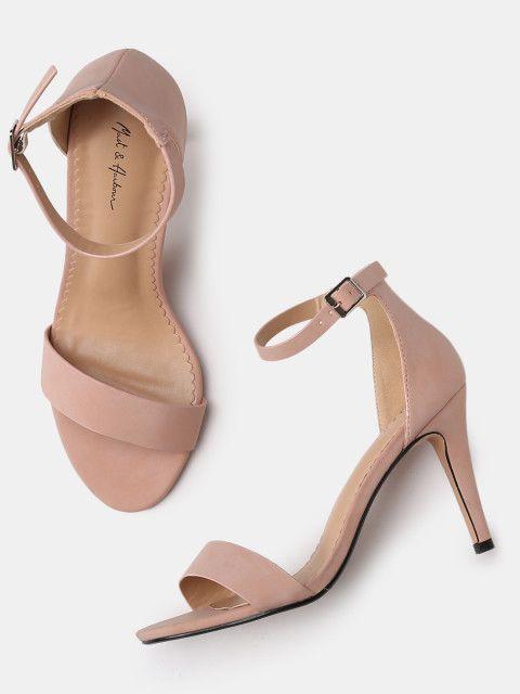 94efe3278d7 Buy Mast   Harbour Women Pink Solid Heels - Heels for Women 2211465 ...