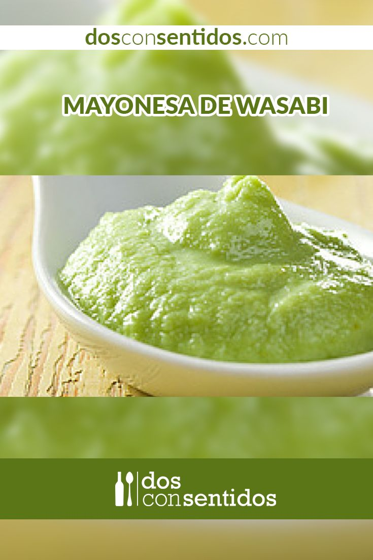La mayonesa, o también conocida como mahonesa, es una salsa fría y emulsionada, proveniente de Menorca, en las Islas Balnearias en España. La mayonesa tiene como base huevos (preferiblemente yemas), y aceite vegetal para emulsionarla o espesarla, y es sazonada con sal, limón o vinagre, para cortar la pesadez y sabor del aceite. Hay incontables formas de sazonar y darle sabor a una mayonesa, y una de esas es con wasabi en polvo, este le dará un sabor picante y amargo a la mayonesa...
