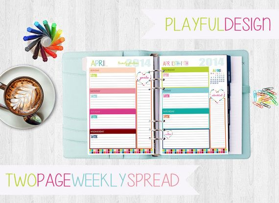 Weekly Spread, Daily Schedule & much more | Daily Planners, Pla