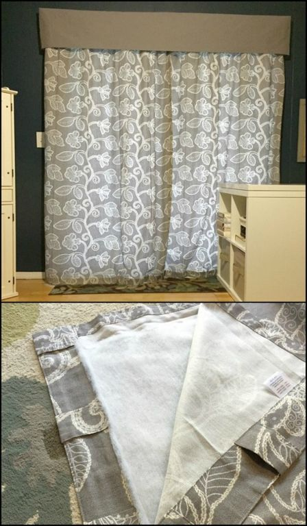 Keep your home warm and lower your energy bill by turning your curtains into DIY insulated curtains!