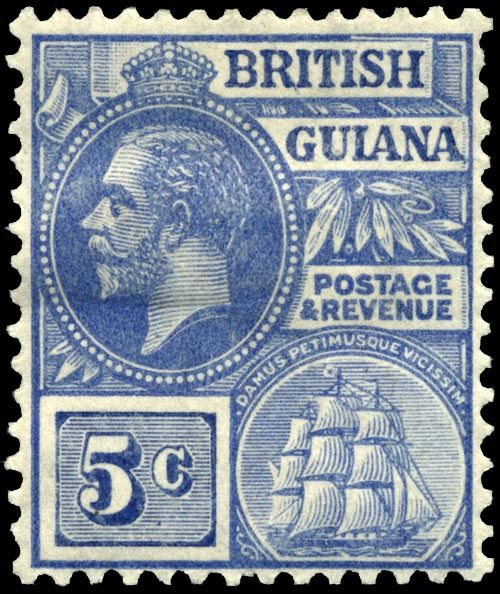 England Postage Stamps   Fichier:Stamp British Guiana 1913 5c.jpg - Wikipédia